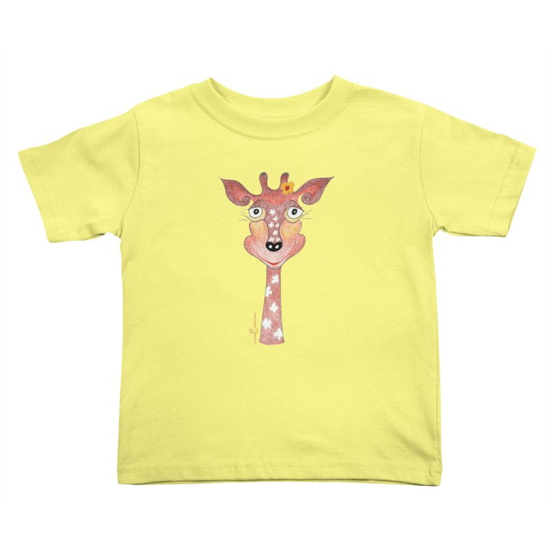 Giraffe Smile Kids Toddler T-Shirt by Good Morning Smile