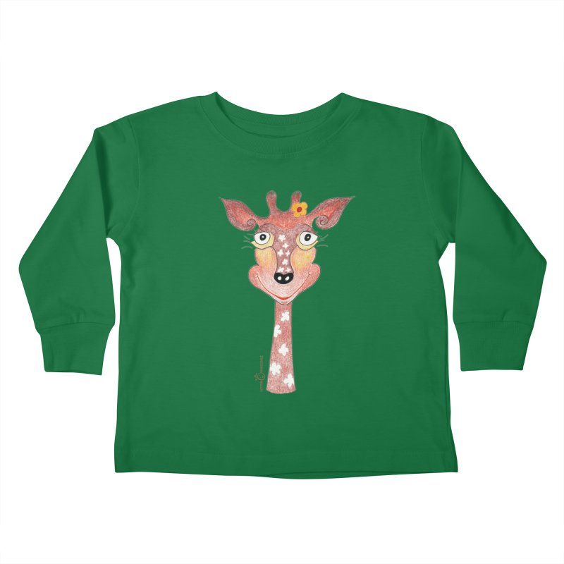 Giraffe Smile Kids Toddler Longsleeve T-Shirt by Good Morning Smile