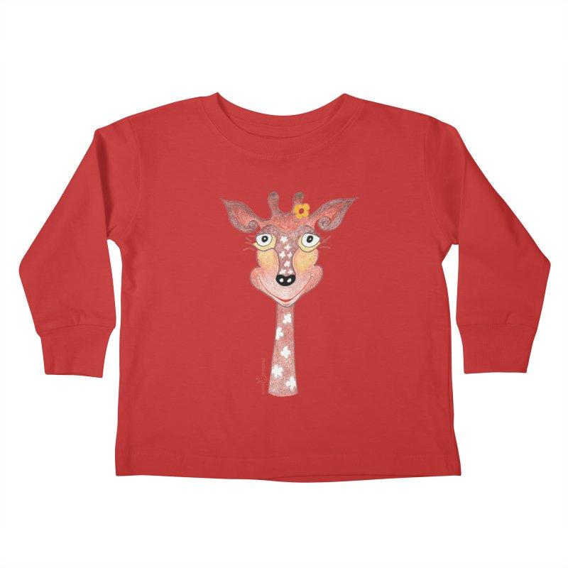 Giraffe Smile Kids Toddler Longsleeve T-Shirt by Good Morning Smile