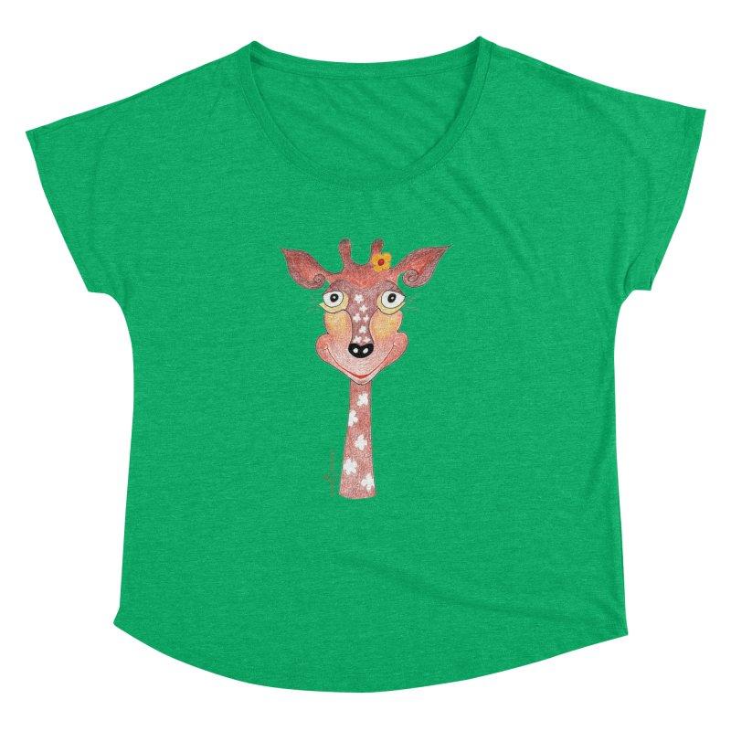 Giraffe Smile Women's Dolman Scoop Neck by Good Morning Smile