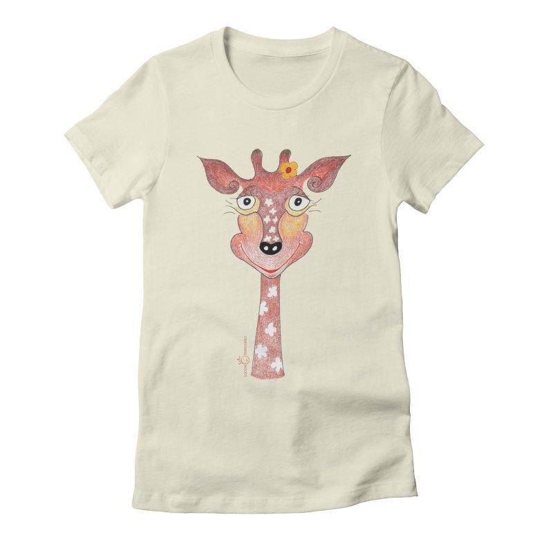 Giraffe Smile Women's Fitted T-Shirt by Good Morning Smile