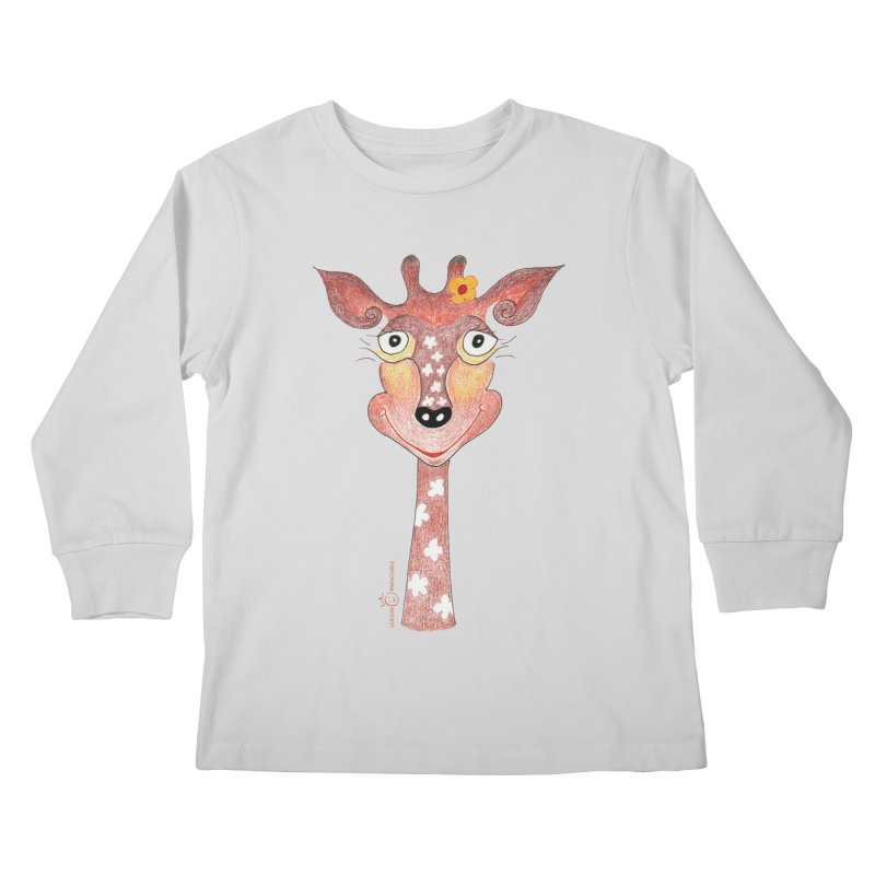 Giraffe Smile Kids Longsleeve T-Shirt by Good Morning Smile