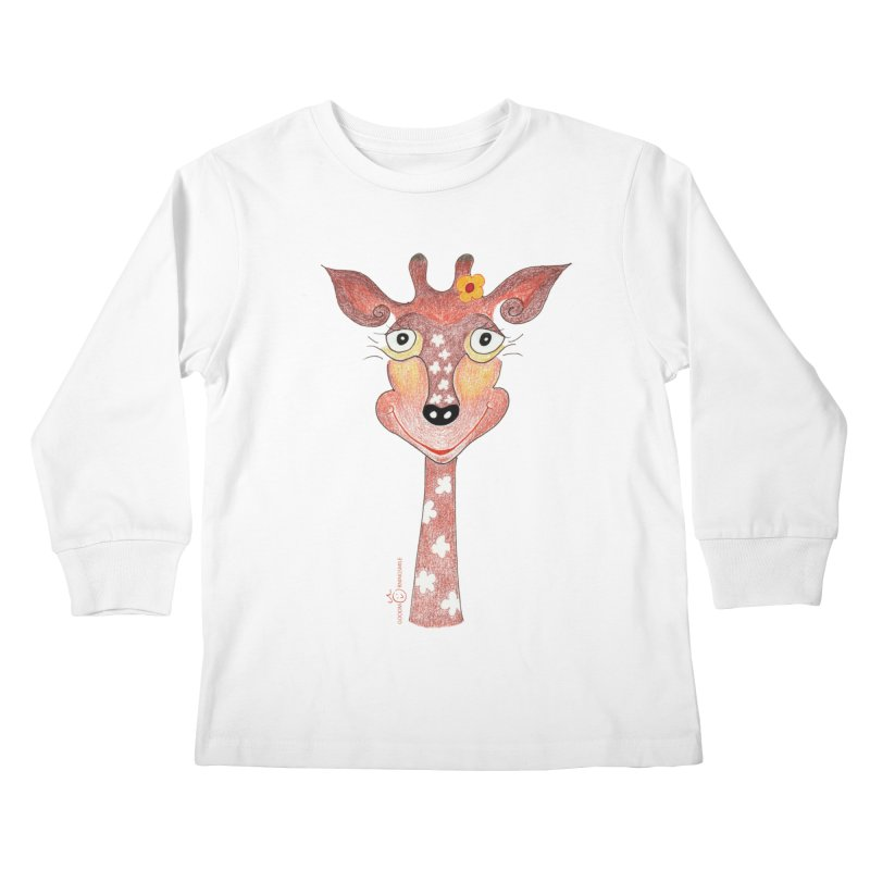 Giraffe Smile Kids Longsleeve T-Shirt by Good Morning Smile