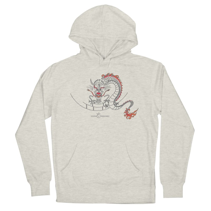 Dragon Smile Men's French Terry Pullover Hoody by Good Morning Smile