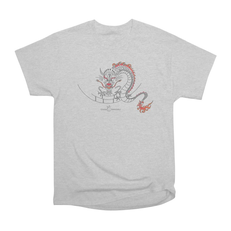 Dragon Smile Women's Heavyweight Unisex T-Shirt by Good Morning Smile