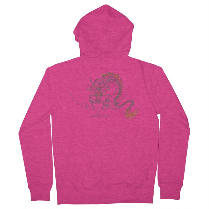 Dragon Smile Women's French Terry Zip-Up Hoody by Good Morning Smile