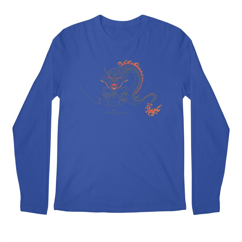 Dragon Smile Men's Regular Longsleeve T-Shirt by Good Morning Smile
