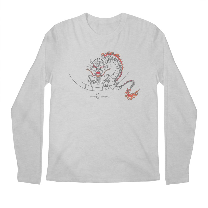 Dragon Smile Men's Regular Longsleeve T-Shirt by Good Morning Smile