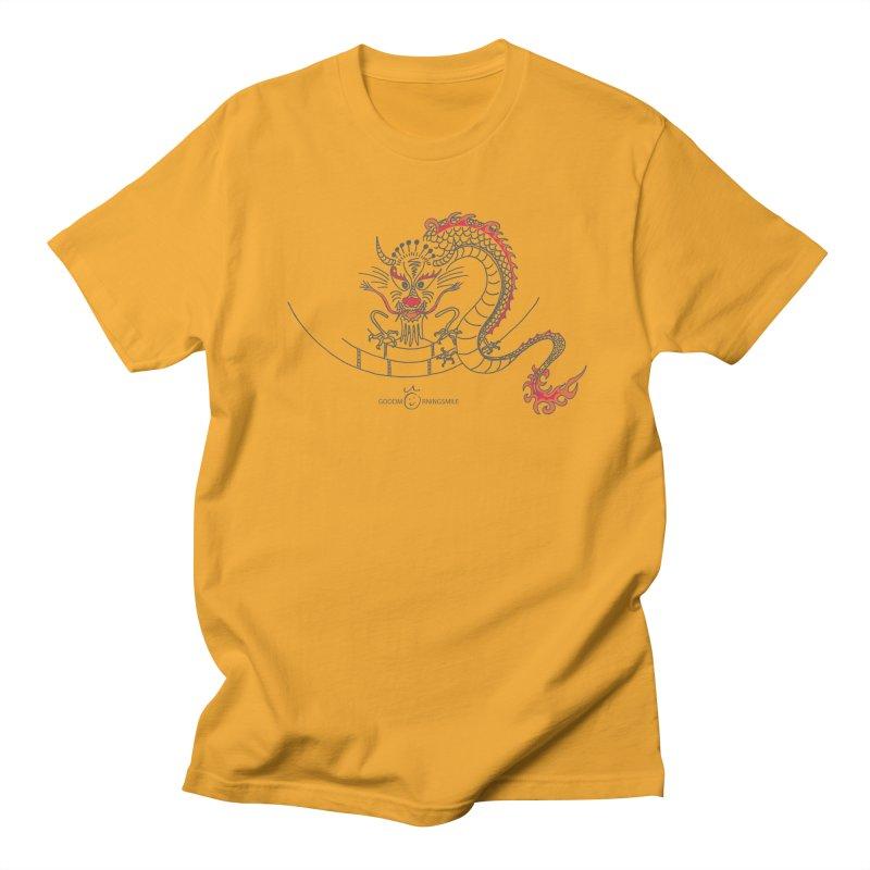 Dragon Smile Men's Regular T-Shirt by Good Morning Smile