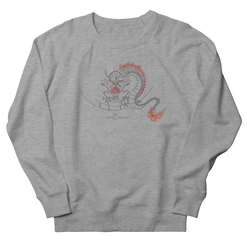 Dragon Smile Men's French Terry Sweatshirt by Good Morning Smile