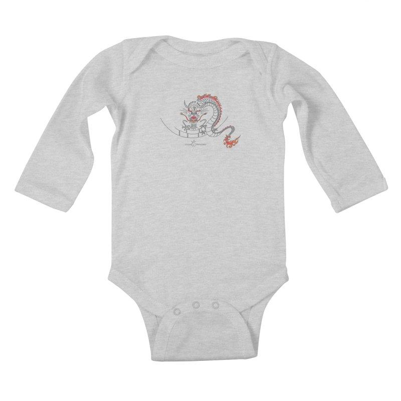 Dragon Smile Kids Baby Longsleeve Bodysuit by Good Morning Smile