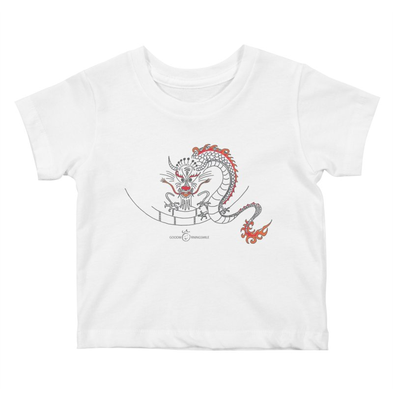 Dragon Smile Kids Baby T-Shirt by Good Morning Smile