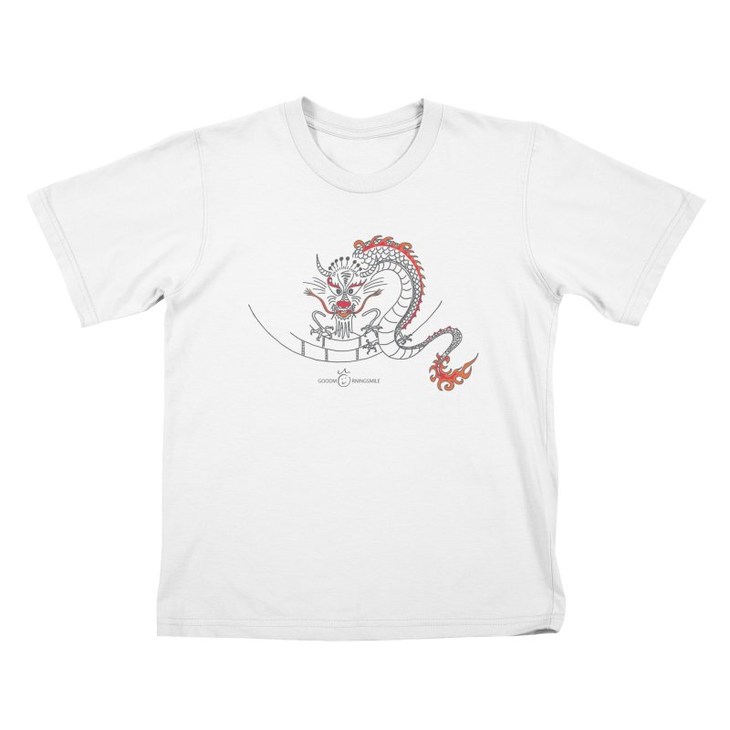 Dragon Smile Kids T-Shirt by Good Morning Smile
