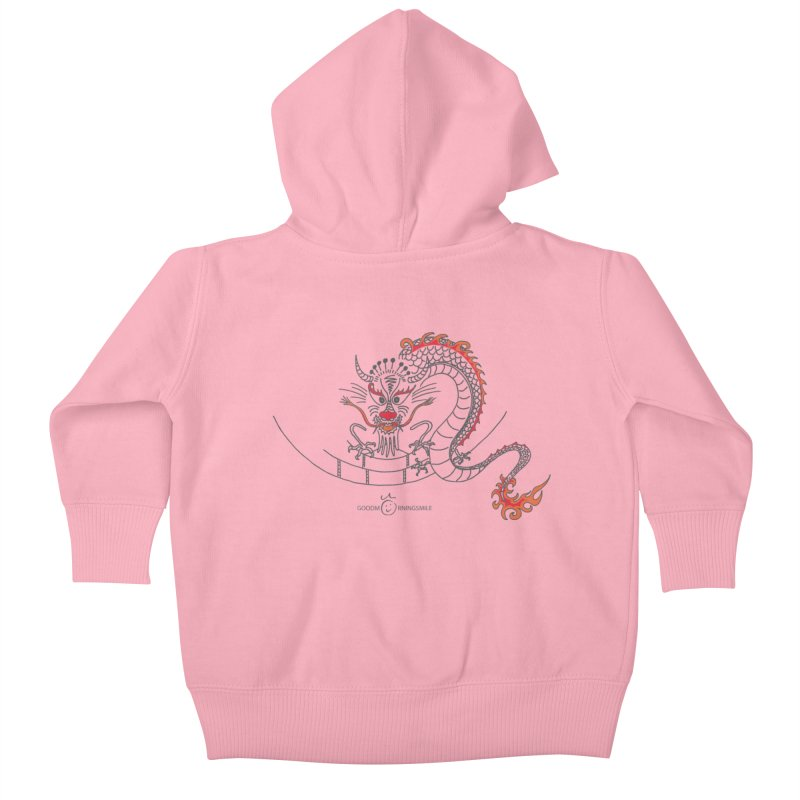 Dragon Smile Kids Baby Zip-Up Hoody by Good Morning Smile
