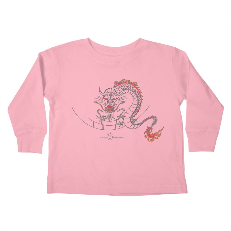 Dragon Smile Kids Toddler Longsleeve T-Shirt by Good Morning Smile