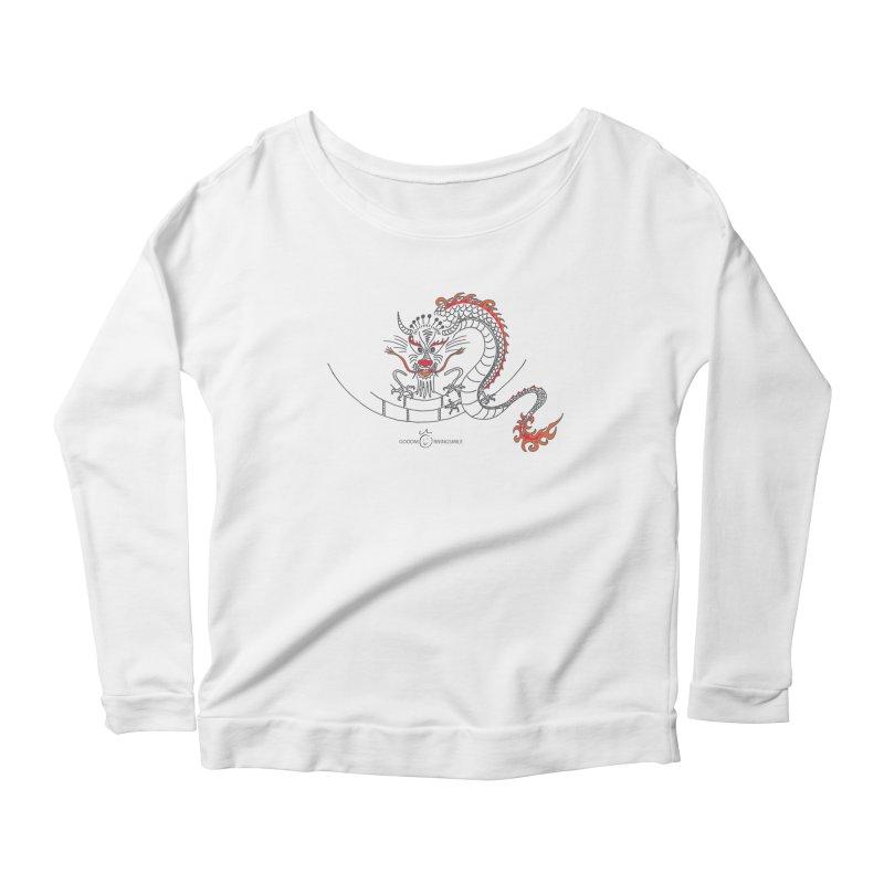 Dragon Smile Women's Scoop Neck Longsleeve T-Shirt by Good Morning Smile