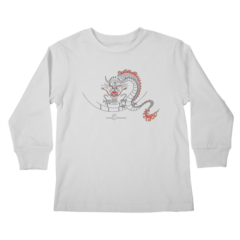 Dragon Smile Kids Longsleeve T-Shirt by Good Morning Smile