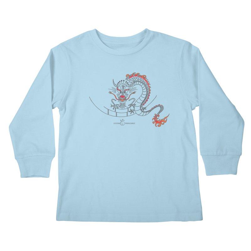 Dragon Smile Kids Longsleeve T-Shirt by Good Morning Smile