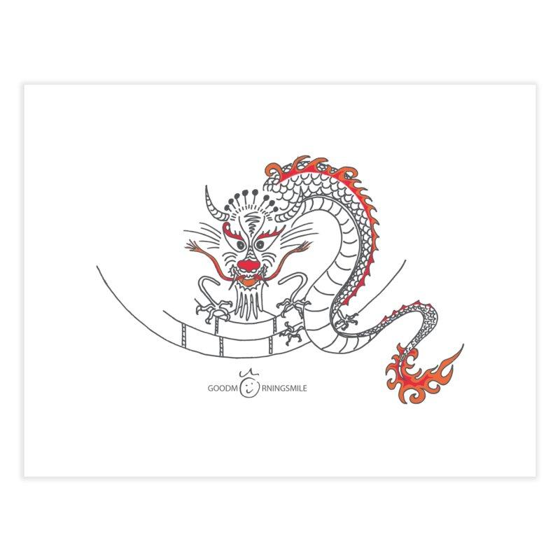 Dragon Smile Home Fine Art Print by Good Morning Smile