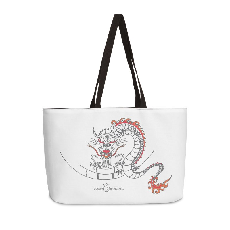 Dragon Smile Accessories Weekender Bag Bag by Good Morning Smile