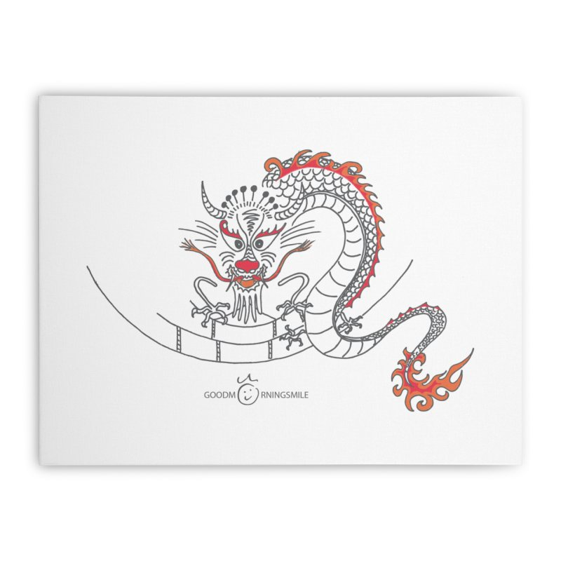 Dragon Smile Home Stretched Canvas by Good Morning Smile