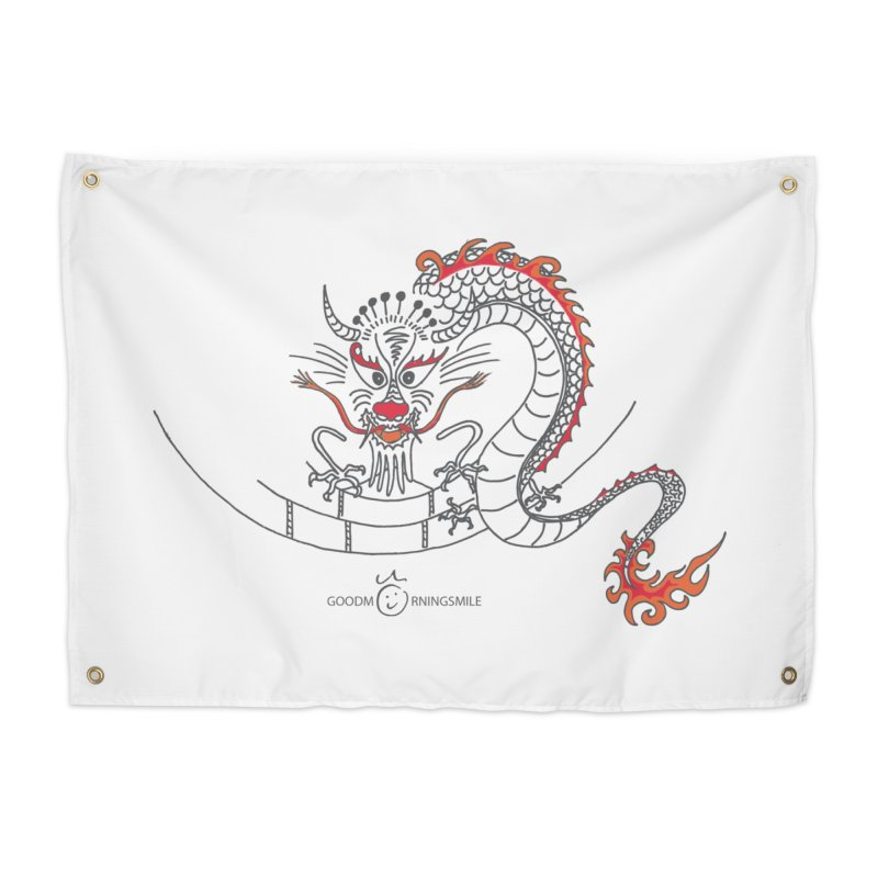 Dragon Smile Home Tapestry by Good Morning Smile