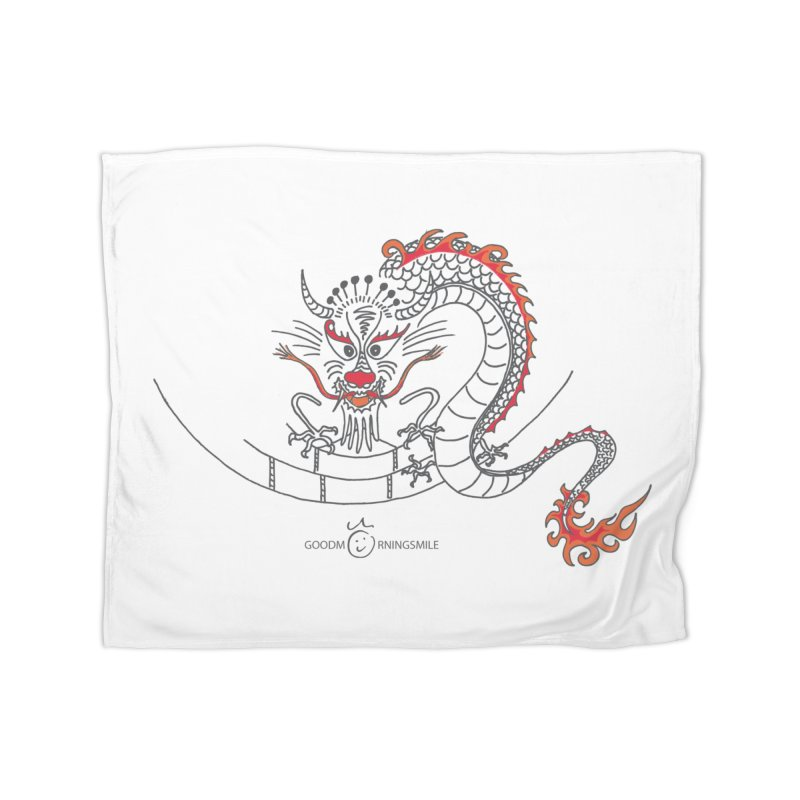 Dragon Smile Home Fleece Blanket Blanket by Good Morning Smile