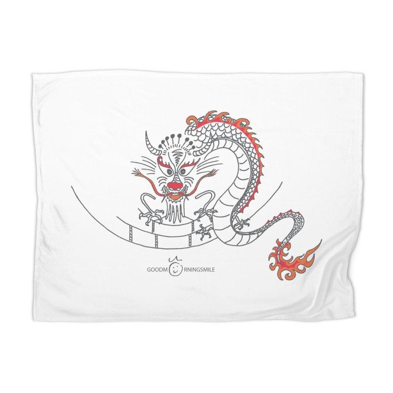 Dragon Smile Home Blanket by Good Morning Smile