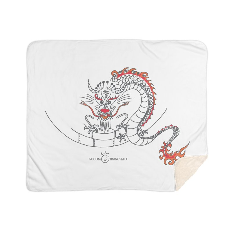 Dragon Smile Home Sherpa Blanket Blanket by Good Morning Smile