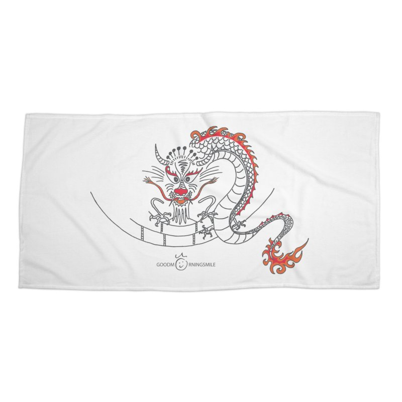 Dragon Smile Accessories Beach Towel by Good Morning Smile