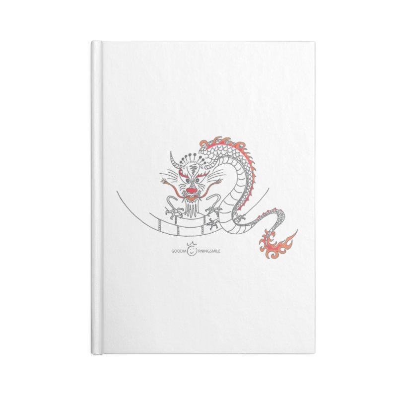 Dragon Smile Accessories Blank Journal Notebook by Good Morning Smile