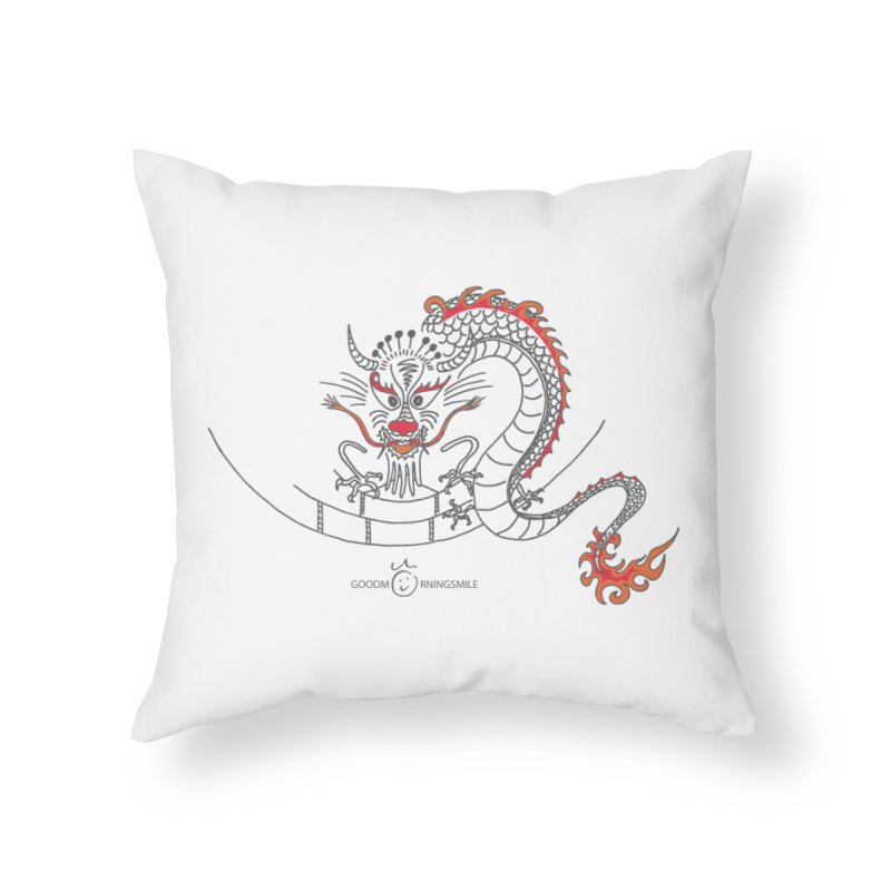 Dragon Smile Home Throw Pillow by Good Morning Smile