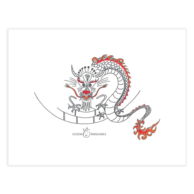 Dragon Smile Home Fine Art Print by Good Morning Smile