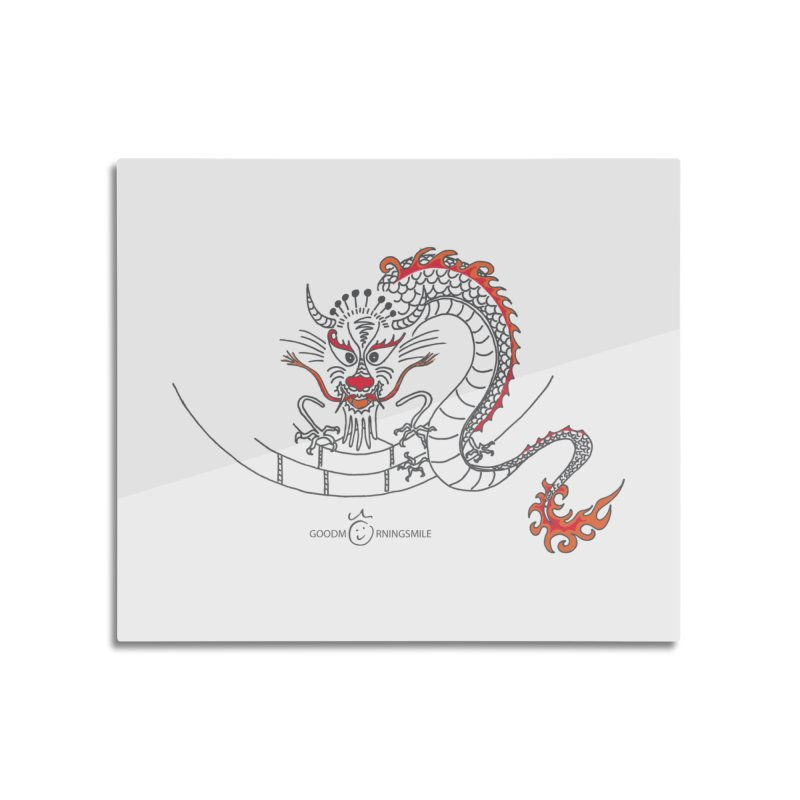 Dragon Smile Home Mounted Aluminum Print by Good Morning Smile