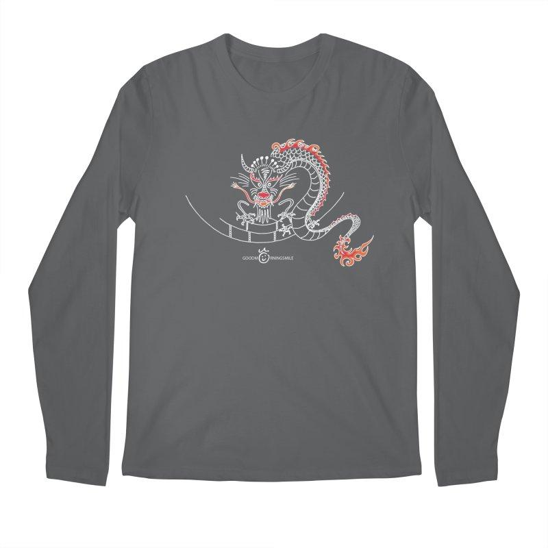Dragon Smile (white) Men's Longsleeve T-Shirt by Good Morning Smile