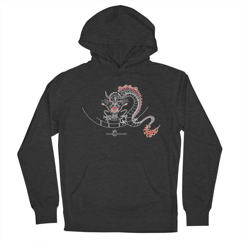 Dragon Smile (white) Men's French Terry Pullover Hoody by Good Morning Smile