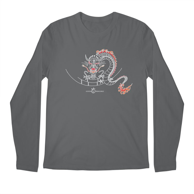 Dragon Smile (white) Men's Longsleeve T-Shirt by Good Morning Smile