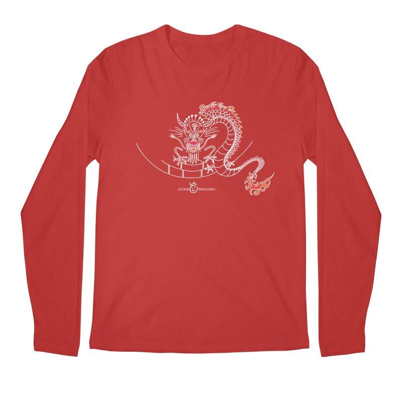 Dragon Smile (white) Men's Regular Longsleeve T-Shirt by Good Morning Smile