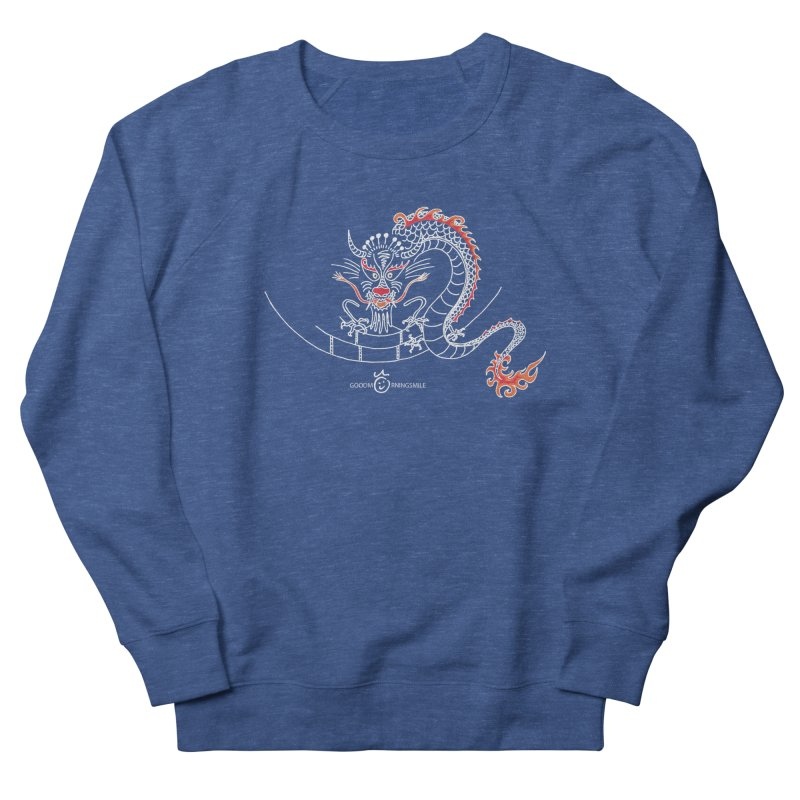 Dragon Smile (white) Men's Sweatshirt by Good Morning Smile