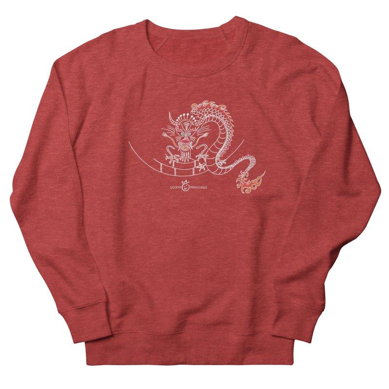 Dragon Smile (white) Men's French Terry Sweatshirt by Good Morning Smile