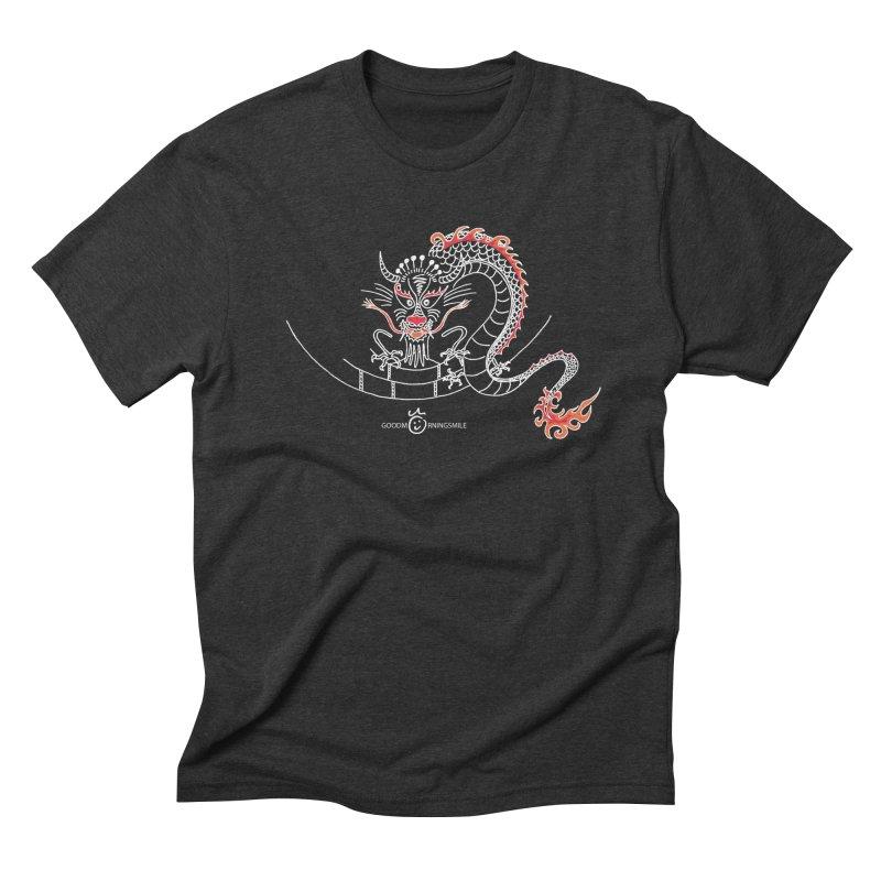 Dragon Smile (white) Men's Triblend T-Shirt by Good Morning Smile