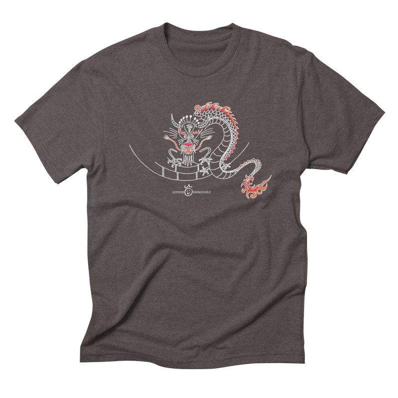 Dragon Smile (white) Men's T-Shirt by Good Morning Smile