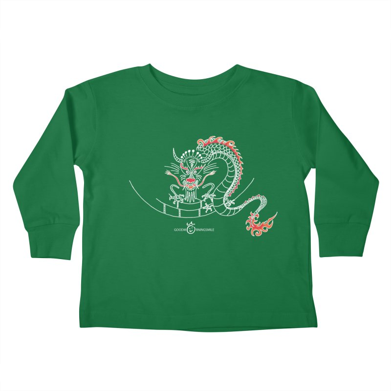 Dragon Smile (white) Kids Toddler Longsleeve T-Shirt by Good Morning Smile