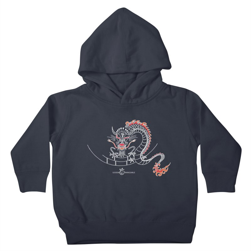 Dragon Smile (white) Kids Toddler Pullover Hoody by Good Morning Smile