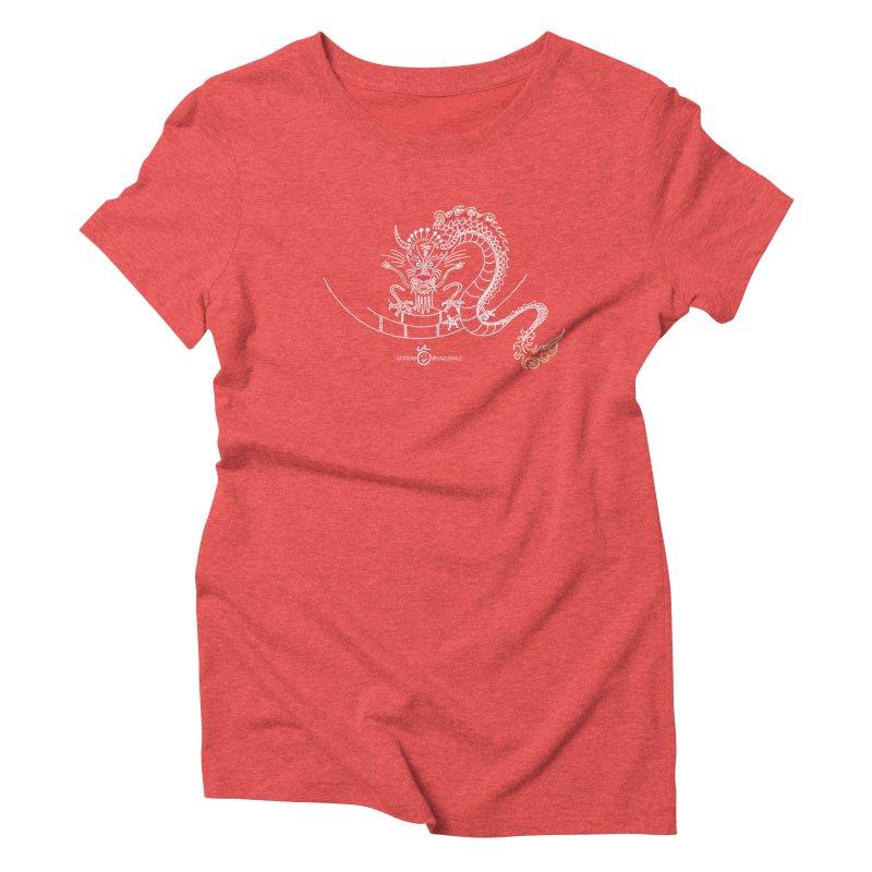 Dragon Smile (white) Women's Triblend T-Shirt by Good Morning Smile