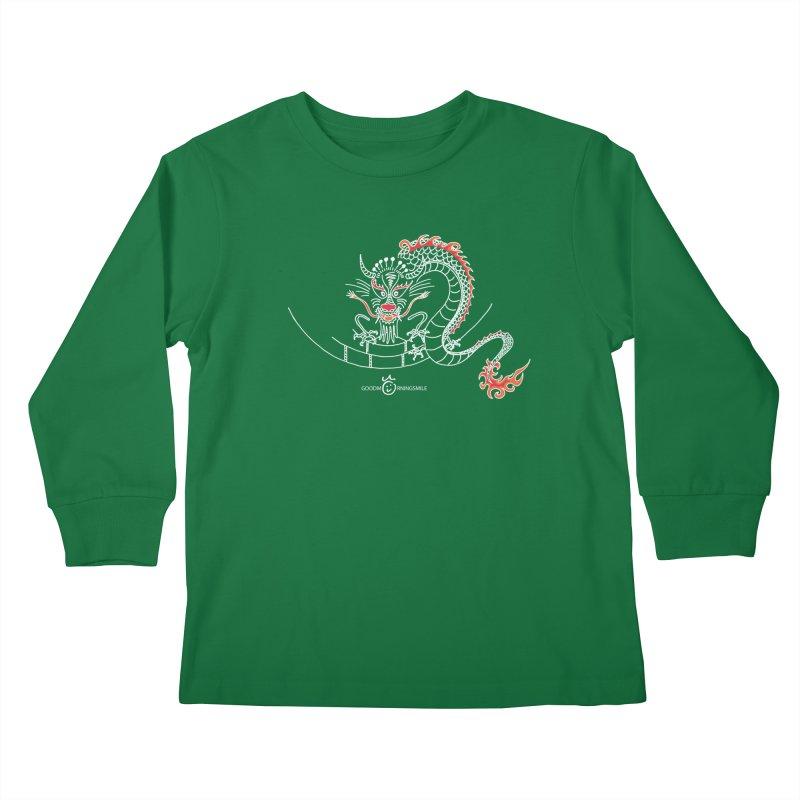 Dragon Smile (white) Kids Longsleeve T-Shirt by Good Morning Smile