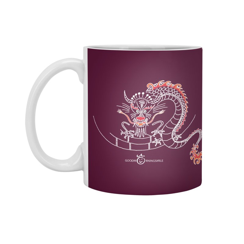 Dragon Smile (white) Accessories Standard Mug by Good Morning Smile