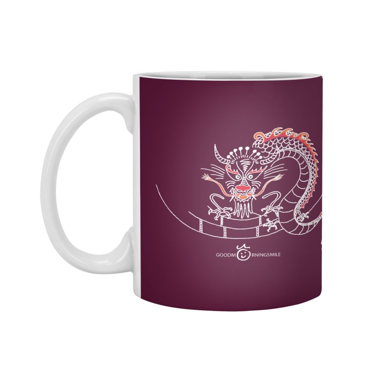 Dragon Smile (white) Accessories Mug by Good Morning Smile