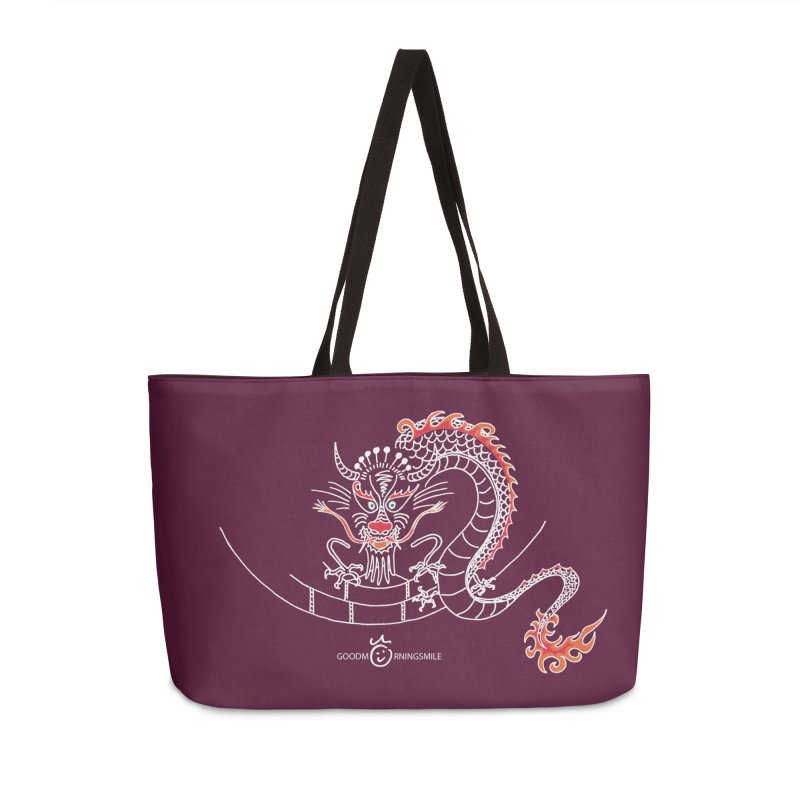 Dragon Smile (white) Accessories Bag by Good Morning Smile