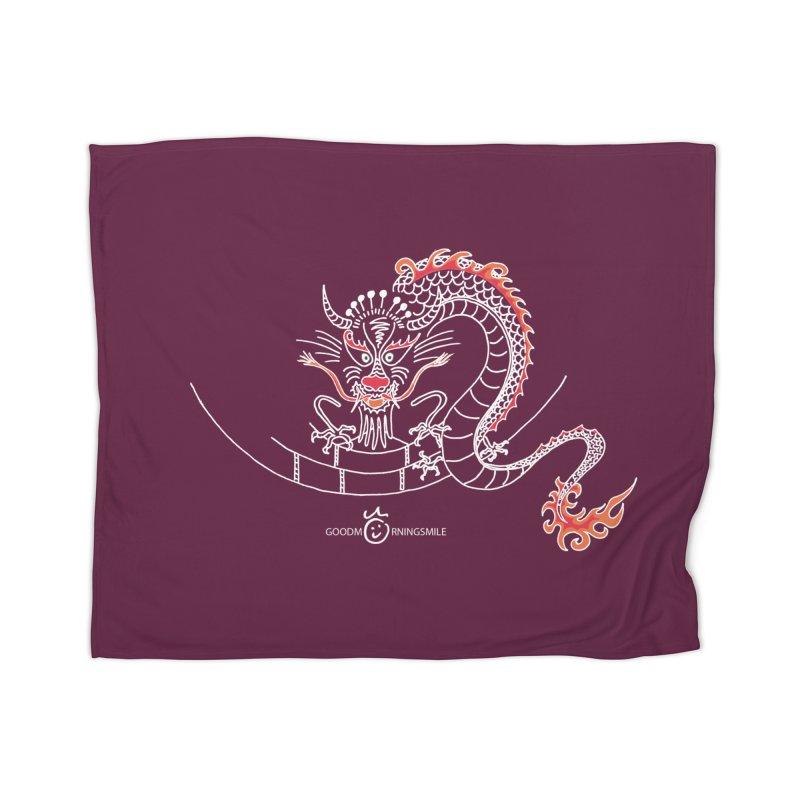 Dragon Smile (white) Home Blanket by Good Morning Smile